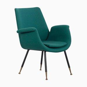 Grüner Sessel von Gastone Rinaldi für Kvadrat, Italien, 1950er
