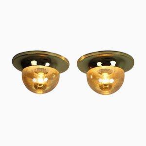 Brass Austria Wall Lamps, 1950s, Set of 2