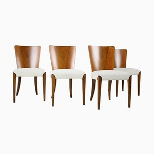 Model H-214 Dining Chairs by Jindřich Halabala, Set of 4