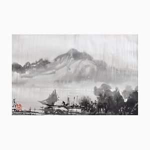 Raining in Formosa am Tamsui River, Ran In-Ting, 1956-59