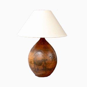 Lámpara de mesa francesa Mid-Century de cerámica de Jacques Blin