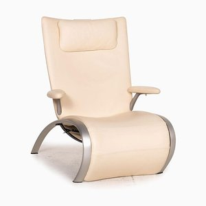 Flex 679 Cream Leather Armchair from WK Wohnen