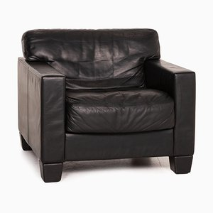 DS 17 Black Leather Armchair from de Sede