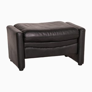 DS 17 Black Leather Stool from de Sede