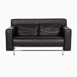 Quarta Black Leather Sofa from COR