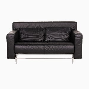 Sofá Quarta de cuero negro de COR