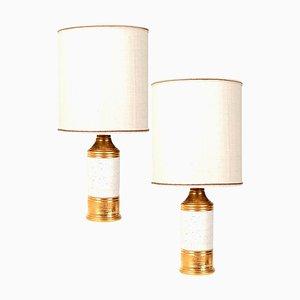 Bitossi Lampen mit Maßgefertigten Schirmen von Rene Houben, 2er Set