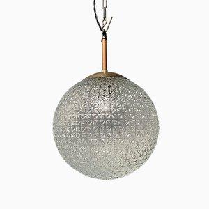 Große Lampe aus Glas mit Gemustertem Glas
