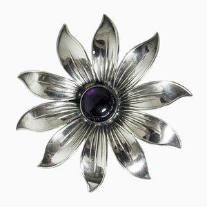 Silber und Amethyst Brosche von Arvo Saarela