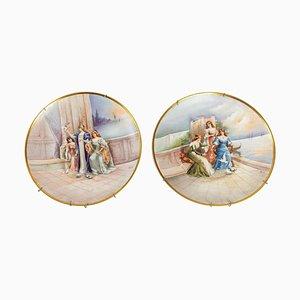 Piatti in porcellana, XIX secolo, set di 2