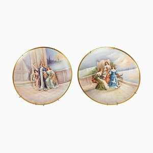 Porcelain Plates, 19th Century, Set of 2