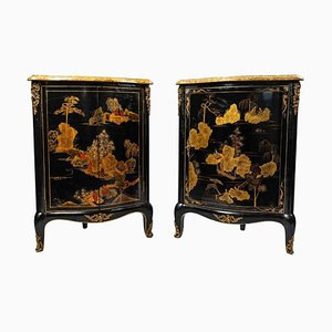 Black Wooden Covenants with Lacquer, Set of 2