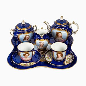 Tea and Coffee Service in Blue Porcelain by Sèvres