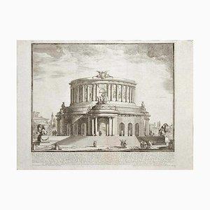 Michelangelo Specchi, Roman Theater, Etching, Mid-18th Century