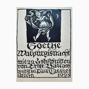 Walpurgisnacht, Book Illustrated by Ernst Barlach, 1923