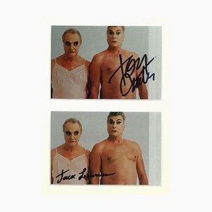 Unbekanntes, signiertes Portrait von Jack Lemmon und Tony Curtis, 1970er