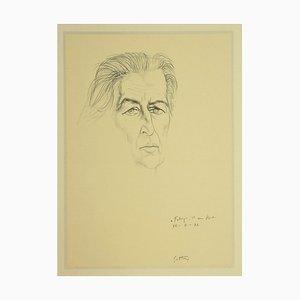 Renato Guttuso, Portrait of Fabrizio Clerici, Offset, 1974