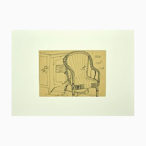 Unknown - Home Interior - Ink - Mid-20th-Century