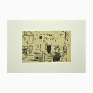 Unknown - House - Pencil - Mid-20th-Century