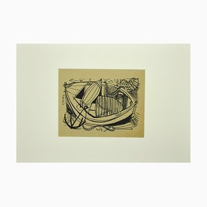Unknown - Boat - Ink - Mid-20th-Century