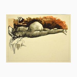 Renato Guttuso, Nude 2, Offsetdruck, 1980er