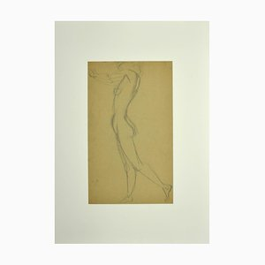 Unknown, Nude of Woman, Pencil, Early 20th Century