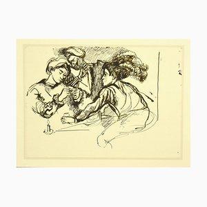 Renato Guttuso, Homage to Caravaggio, Offset Print, 1980s
