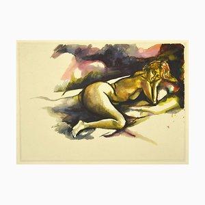 Renato Guttuso - Nudity - Offset Print - 1980s