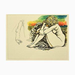 Renato Guttuso, Nude 1, Offsetdruck, 1980er