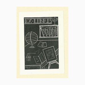 Unknown, Ex Libris AL7, Woodcut, 1960s