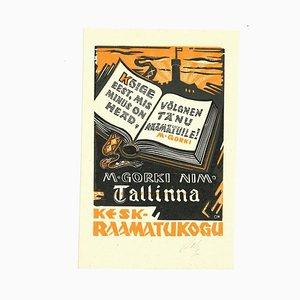 Unbekannt, Ex Libris Tallinn, Holzschnitt, 1960er