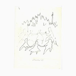 Mino Maccari, La Danse, Ink Drawing, anni '60