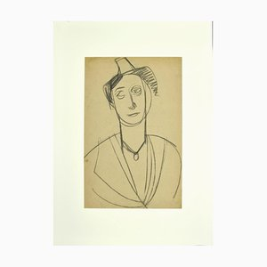 Unknown, Portrait, Pencil Drawing, Early 20th Century