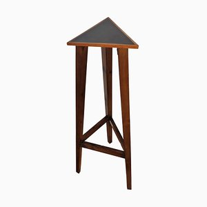 Mid-Century Vintage Italian Art Deco Wooden Triangle Pedestal or Plant Stand