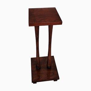 Mid-Century Vintage Italian Art Deco Walnut Wood Pedestal or Plant Stand