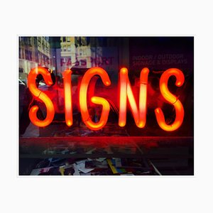 Signs, New York - Neon Color Street Photograph, 2017