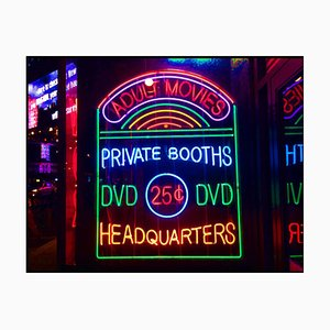 Private Booths, New York - Neon Color Street Photograph, 2017