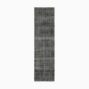 Black Overdyed Runner Rug