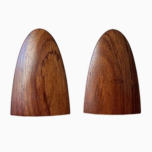 Mid-Century Cocobolo Rosewood Bookends