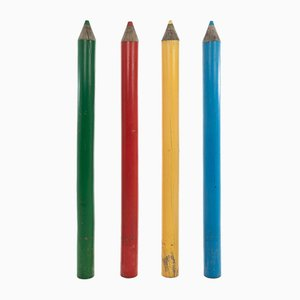 Large Advertising Pencils, Set of 4