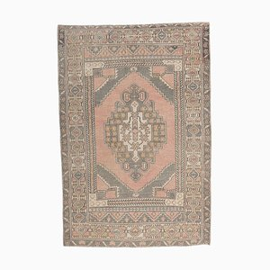 Vintage Turkish Handmade Oushak Wool Rug