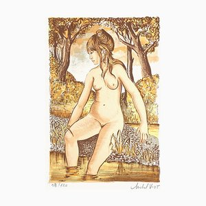 Nude in the River II by Michel Viot