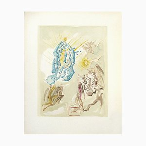 Divine Comedy Paradise 26 - Dante Covers the View by Salvador Dali