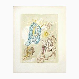 Divine Comedy Paradise 26 - Dante Covers the View von Salvador Dali