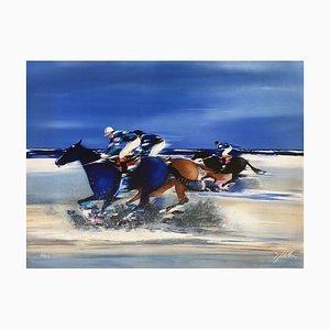 Training Jockeys in Deauville by Victor Spahn
