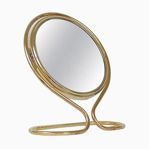 Mid-Century Italian Double Sided Brass Vanity Table Mirror, 1950ss
