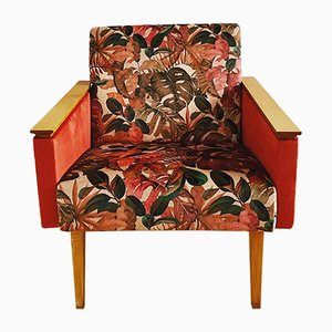 Mid-Century Wild Nature Armchair from Tatra