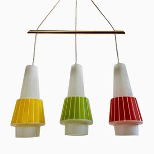Colored Chandelier with Three Hinges