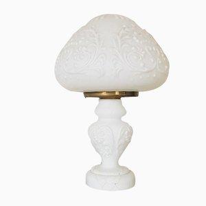 Lampe Style Art Nouveau en Verre Givré