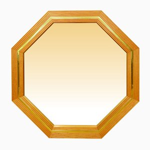 Large Bamboo and Brass Mirror, 1970s.